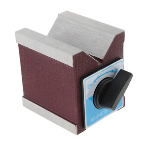 Heavy Duty Magnetic V Block Vee Magnetic Base With Switch 2 76x2 44x2 87