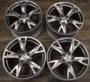 Nissan 370z Wheels 19 Forged Wheels Made By Rays Japan set Of 4 Oem Nissan