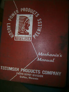 1960 s 70 s Tecumseh Lauson Peerless Power Products Mechanics Manual
