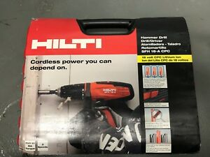 Hilti Sfh 18 a 18v Cordless Hammer Drill Driver W case 2 Battery Packs charger