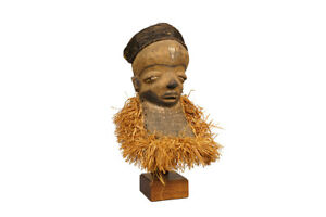 Pende Mbuya African Mask 18 With Custom Stand Drc