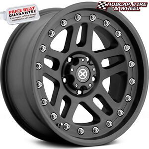 Atx Series Cornice Ax195 Textured Black 17 x9 Custom Wheels Rims set Of 4