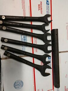 Snap on Tools Oe128b Open End Wrench Set Heavy Duty Tubular Usa