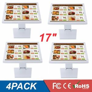 4pack 17 Touch Screen Monitor With Pen Lcd Vga Pos Restaurant Retail Kiosk Be
