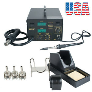 usa 2in1 Electric Smd Rework Soldering Iron Station Welding Tool Welder Safety