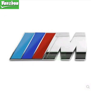 Front Grill Badge Logo Emblem Sticker Fit For Bmw M3 X5 E46 3d M Power
