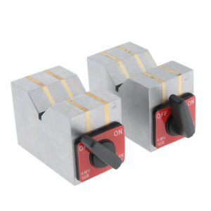 1 Pair Magnetic V Block 6 2 4inch Machinist Metalworking