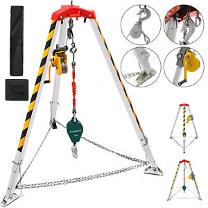 Confined Space Tripod Kit Tripod Legs 4 7ft Aluminium Alloy Well Non slip 390lb