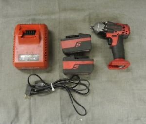 Snap on Ct8810a 3 8 18v Impact Wrench W Batteries Charger 101014 1 H