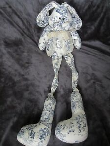 Big 30 Primitive French Country Toile Rabbit Bunny Doll Shabby Victorian Long