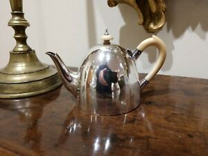 English Sterling Silver Tea Pot With 18th Century Marks Of Louisa Courtauld