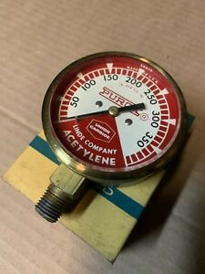 Linde Oxweld Acetylene 0 400 Gauge Regulator Union Carbide Purox Vintage Gauge