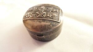 Antique Sterling Silver Peel Box