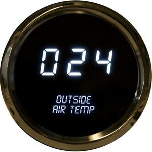 Intellitronix Led Outside Air Temperature Gauge In Chrome Bezel White
