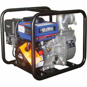 7hp Portable Gasoline Water Pump 3 Intake outlet Lot Of 1