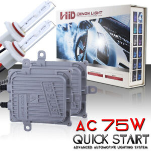 Ac 75w Quick Start Hid Xenon Headlight Conversion Kit H1 H3 H4 H7 H11 H13 9005