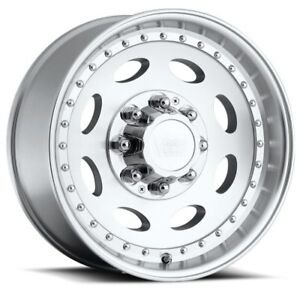 19 5x7 5 Vision 81 Hauler Single 8x170 Et0 Machined Rims set Of 4