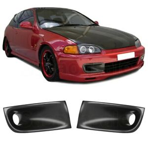 Fit For 92 95 Honda Civic Eg Eg6 Pu Front Bumper Jdm Air Duct Vent Urethane
