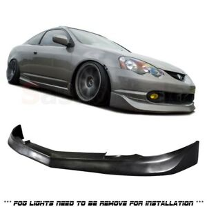 Made For 2002 2004 Acura Rsx Dc5 Mu Style Front Bumper Lip Urethane Black Pu