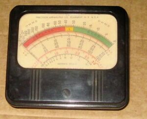 Precision Apparatus 954 g Type D058 Tube Tester Panel Meter Tested