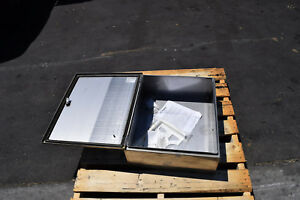 Wiegmann Wall Mount Enclosure N412 ss Series Stainless Steel Hubbell 24 x20 x8
