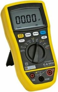 Chauvin Arnoux C a 5233 Handheld Digital Multimeter With Rscal Calibration 10a