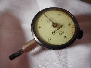Vintage Machinist Tool Federal B5m 0005 Dial Indicator Gauge Miracle Movement