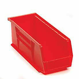 Akro mils Plastic Stacking Bin 4 1 8 w X 10 7 8 d X 4 h Red Lot Of 12