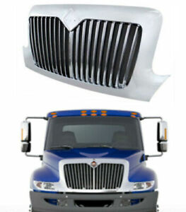 Chrome Front Bumper Grille For 02 18 International 4100 4200 4300 4400 8300