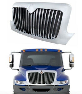Front Grille Chrome Grill For 02 18 International 4100 4200 4300 4400 8500