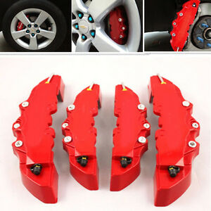 4pcs 3d Style Abs Car Universal Disc Brake Caliper Covers Front