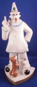 Fun Volkstedt Porcelain Kati Zorn Clown W Dog Figurine Porzellan Figur Figure