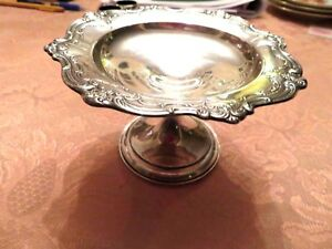 Antique Gorham Sterling Silver Repousse Candy Berry Footed Vase