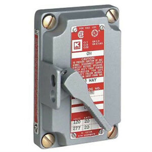 Hubbell Electrical Killark Xs 2c Tumblr Switch With Cover 2 pole Gray