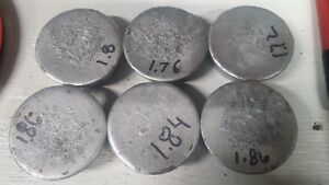 10.84 lbs of  Lead Biscuits for ReloadingSinkers & Molding
