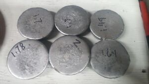 10.31 lbs of  Lead Biscuits for ReloadingSinkers & Molding