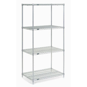 Chrome Wire Shelving 24 w X 14 d X 74 h Lot Of 1