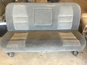 1999 2010 Ford F250 F350 F450 Super Duty Rear Seat Gray Cloth