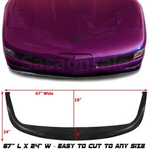 Made For 1997 2004 Chevy Corvette C5 Usdm Pu Front Bumper Add On Lip Spoiler