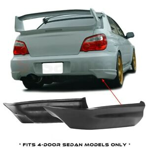 Made For 2005 2007 Subaru Impreza Wrx Sti Only Jdm Rear Bumper Add On Lip Spats