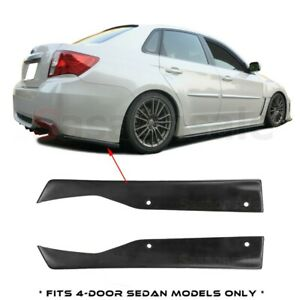Made For 2011 2014 Subaru Impreza Wrx Sti Sedan 4dr Rear Bumper Add On Lip Spat