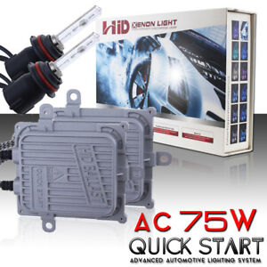 Ac 75w Quick Start Hid Xenon Headlight Conversion Kit H3 H4 H7 H11 H13 9005 880