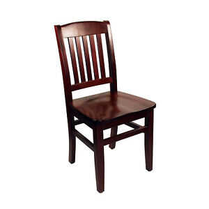 New Kodiak Mahogany Wooden Commercial Restaurant Chair
