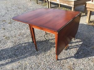 Vintage Cherry Drop Leaf Dining Table 72 By 42