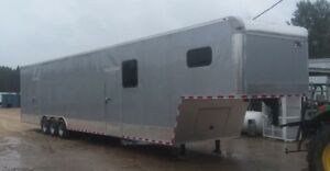 New 2019 Eagle Series 8 5 X 46 Enclosed Gooseneck Cargo Car Hauler Loaded