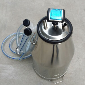 Nzl Portable 304 Stainless Steel Goat Milker Milking Machine Bucket Tank Barrel