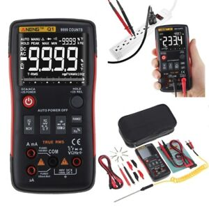 Q1 True rms Digital Multimeter Button 9999 Counts Analog Bar Graph Tester