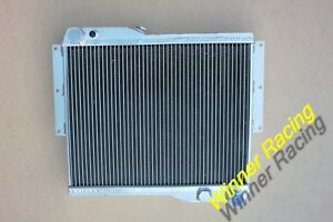 Aluminum Radiator For Mg Mgb Gt Rover V8 Engine Conversion Swap M t 1973 1976
