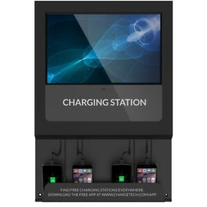 Chargetech Digital Signage Charging Station 17 Lcd 1024 X 768 Led 350