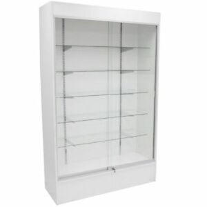 Trophy Case Glass Display Case 48 Long X 78 Tall White wc4w